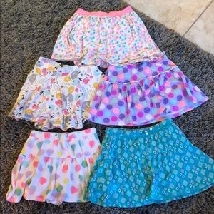 Other - 5 girls skirts (w/shorts underneath)